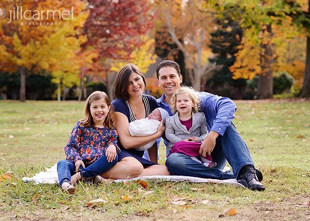 Fall family photos in McKinley Park Sacramento