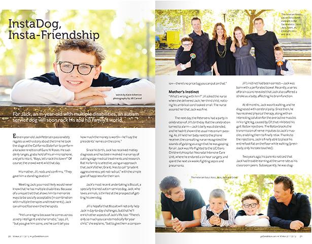 dandelion magazine autism guide dog