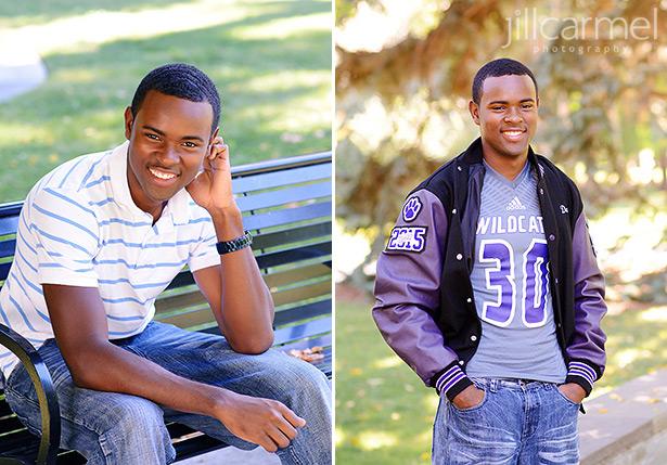 high school senior portrait with letterman jacket