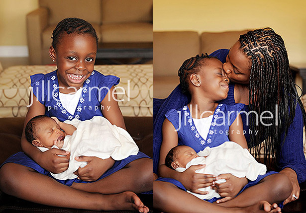 family love for their newborn session