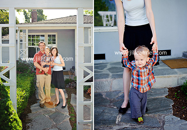 we took these sacramento family portraits at their home