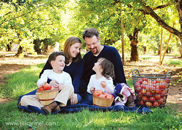 this family wanted to do their session at an apple orchard near sacramento