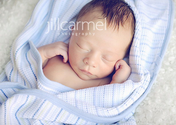 this little peanut was a perfect little newborn baby for his portrait session