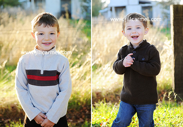 brothers smiling at the family farm in elk grove