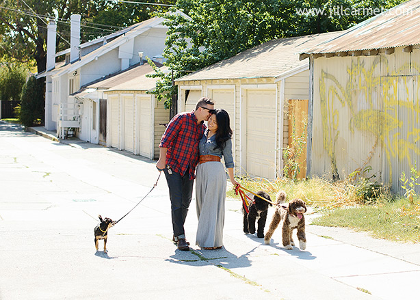 kissing and walking dogs simultaneously takes an expert
