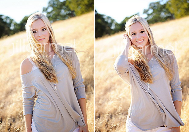 teen portraits at sunset on a warm grassy hill in el dorado hills
