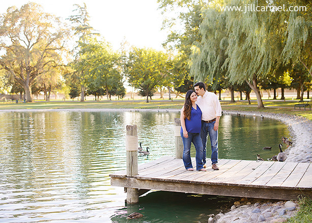 elk grove park was perfect for maternity photos on the dock