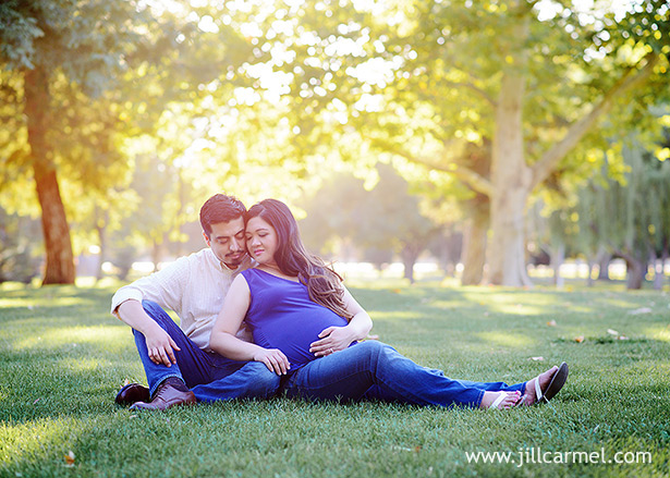 glowing sunset pictures for pregnancy at elk grove park