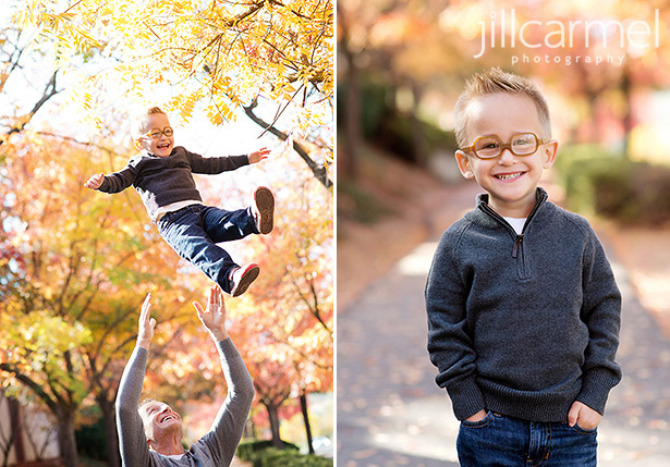 autumn leaves are the best for sacramento family portraits