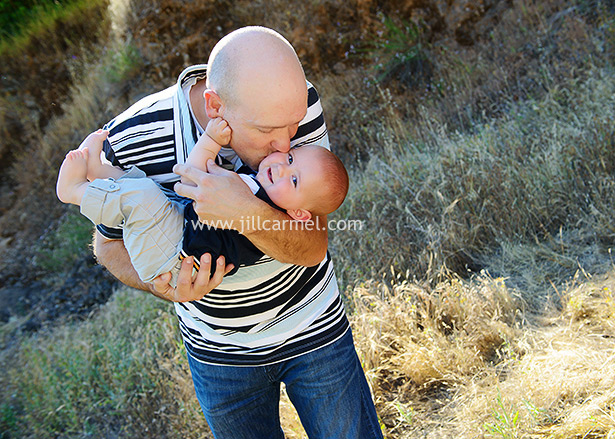daddy kisses are pretty good too when it comes to father and son pictures