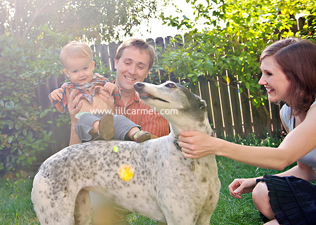 family portraits with the dog in east sacramento