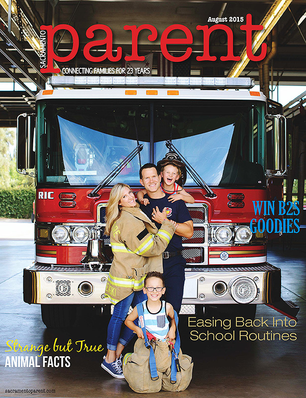 family photography firetruck sacramento parent published