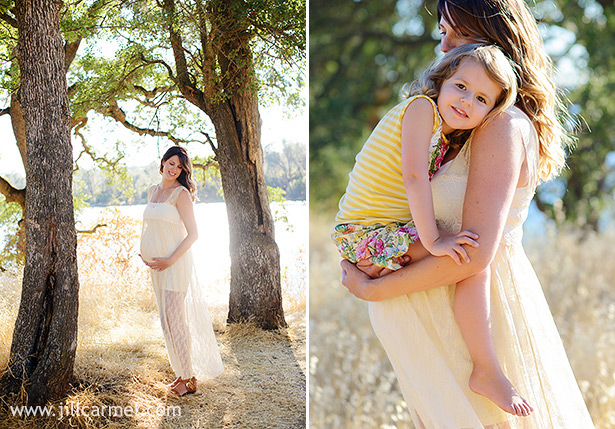 gauzy lace anthropologie dress for maternity portraits