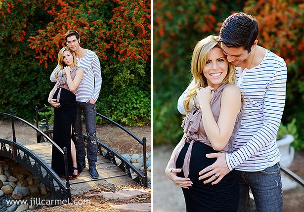 maternity pregnancy pictures on a little bridge at monte verde inn