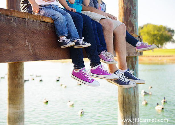 family wore converse shoes for their family portraits at gibson ranch