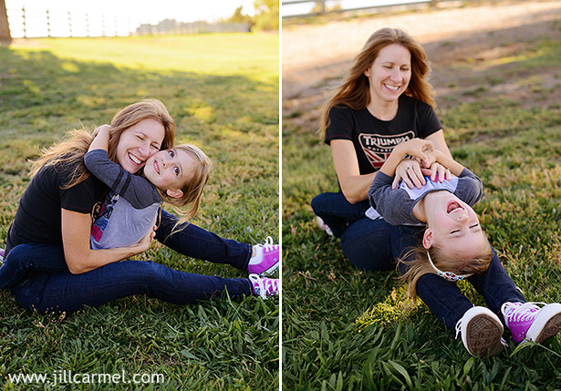 tickles in the field at Gibson ranch make the best mother daughter smiles