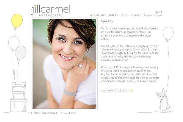 a headshot of jill carmel