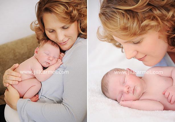 natural light newborn portraits