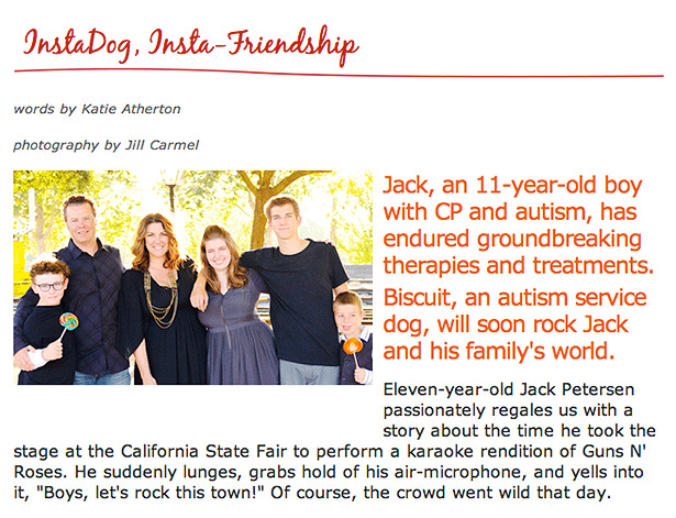 instadog instafriendship article and photos about jack autism