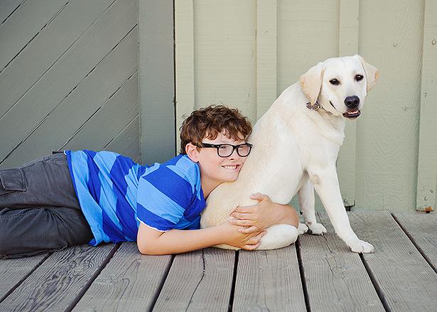 jack petersen with service dog biscuit