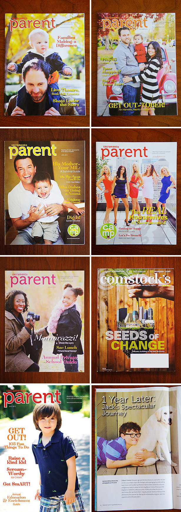 published eight times in 2012 sacramento parent magazine comstocks dandelion