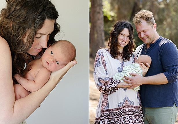 gorgeous mama bohemian styled newborn session in los angeles