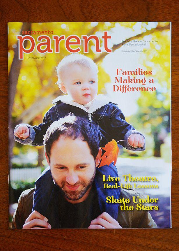 magazine cover for sacramento parent mag jill carmel 2012