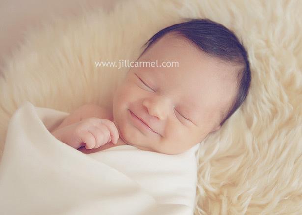 smiling baby portrait