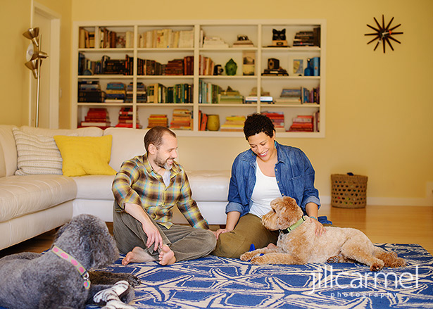 mid-century home makes the perfect backdrop for maternity session