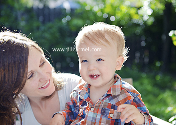 mommy and son together for their family portraits in east sacramento