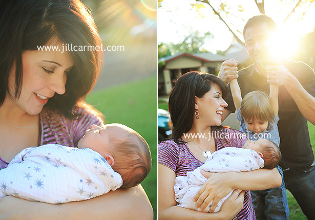 beautiful sunlight for these newborn pictures
