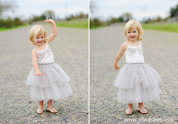"dancing to ""let it go"" in her princess dress"