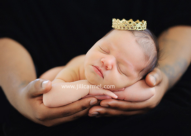 little crown on baby marley for her citrus heights baby portraits