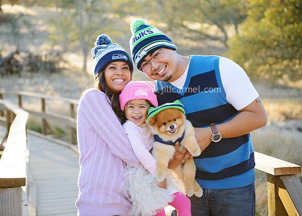 seahawk fans family portraits