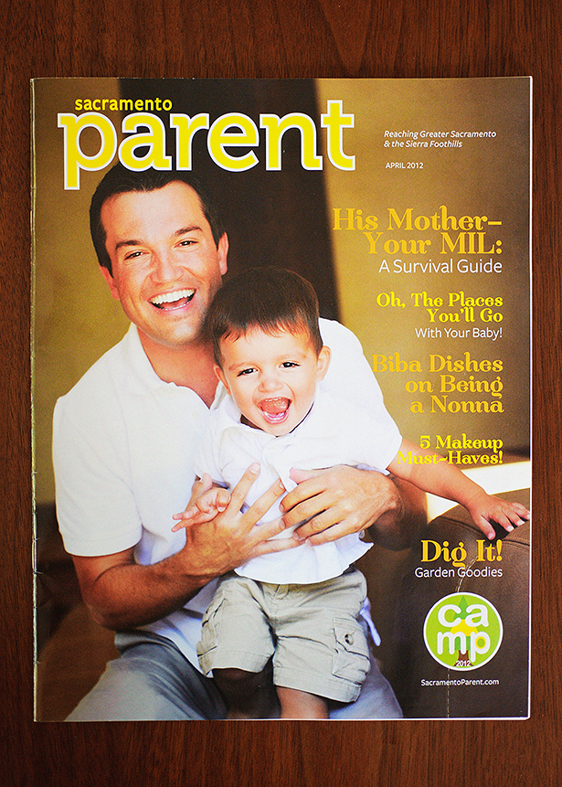published in sacramento parent magazine april issue with father and son