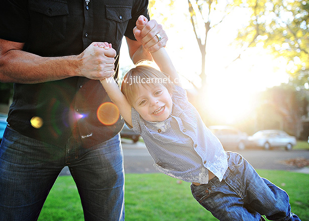 big brother has fun in the sun for his family pictures