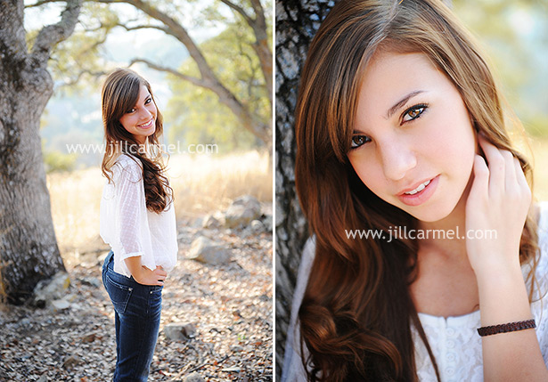 we found perfect light in el dorado hills for her senior portraits