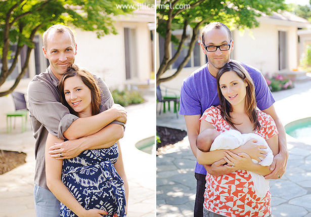 before and after from maternity to newborn for this sacramento couple
