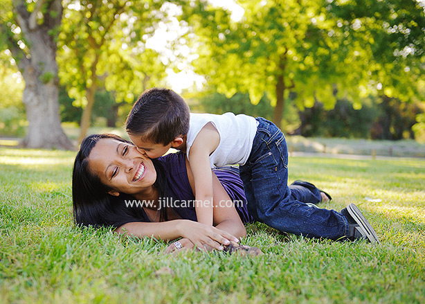 mother and son in sacramento park (1)