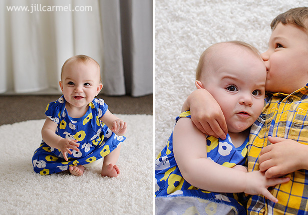 learning to walk and funny expressions with kisses