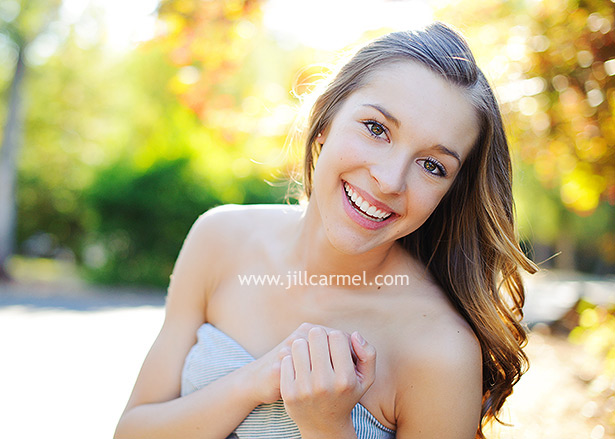 big bright smile from this high school senior in her natural relaxed senior portraits
