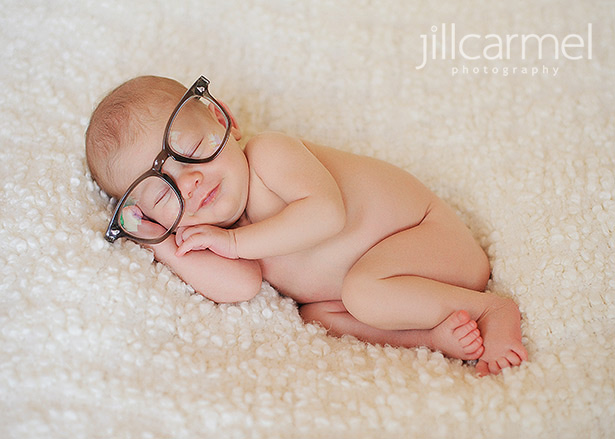 Simple props make for a natural newborn session