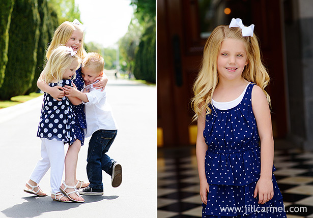 big hugs between the cousins for their child portraits at the capitol