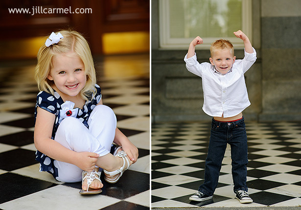 twins show off their cute poses for the camera