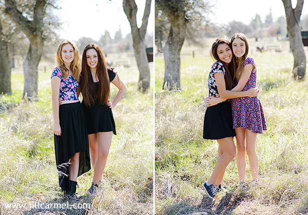 friends together in a big field for birthday pictures