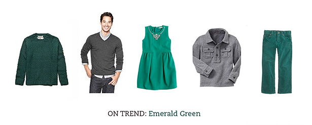 what to wear clothing outfits wardrobe fall 2013 photo shoot family emerald green
