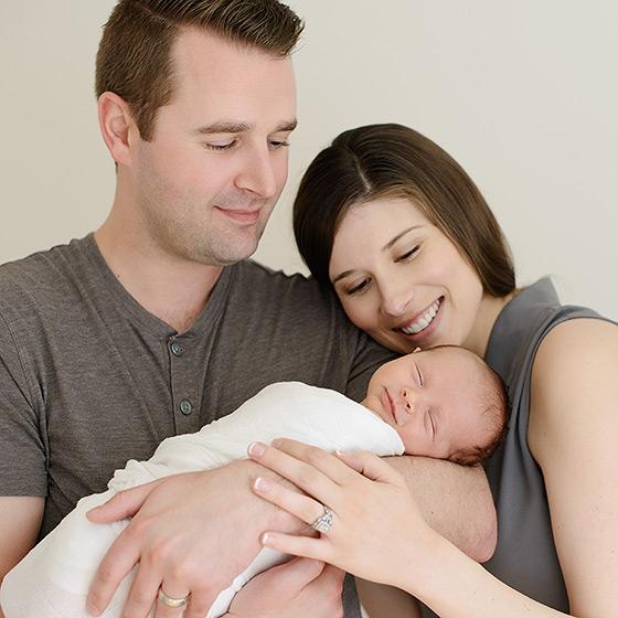 newborn portraits in a sacramento studio