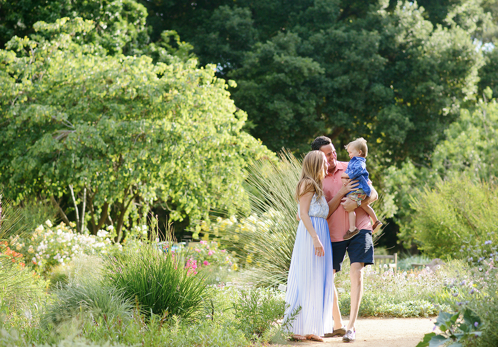 family of three is perfect for davis arboretum family photos