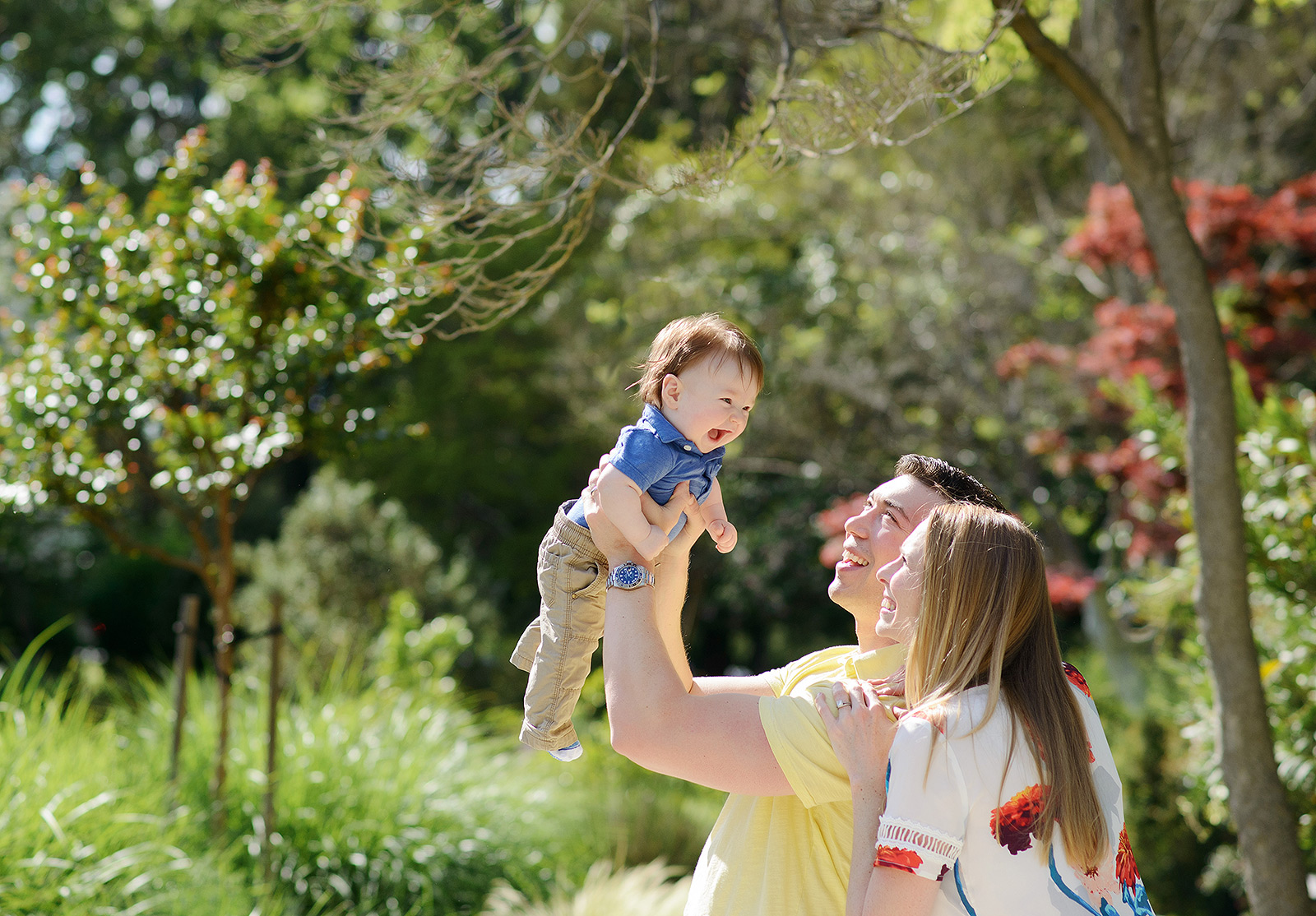 sacramento mckinley park is perfect for spring baby pictures