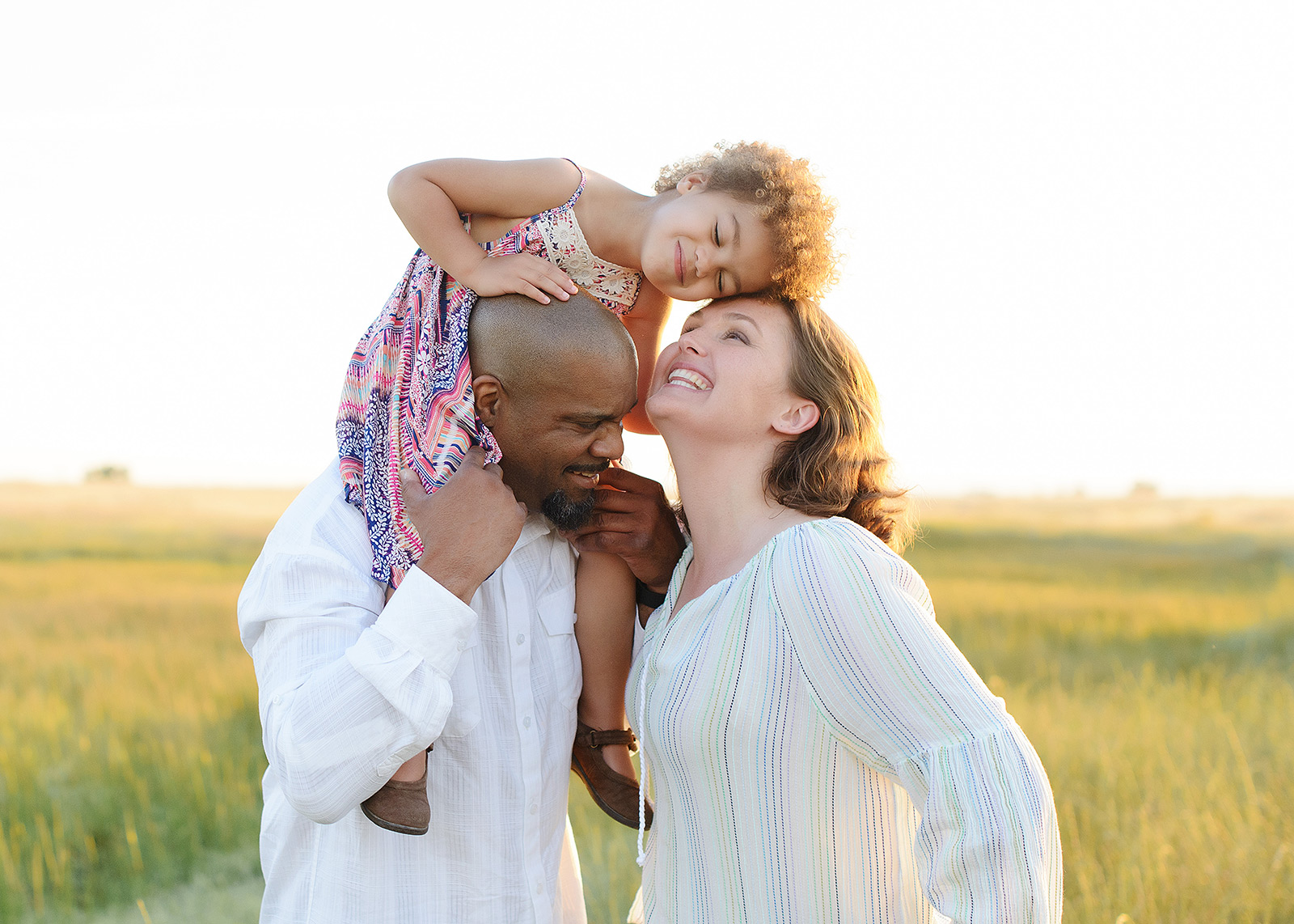 sweet family photo during sunset